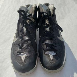 Size 7y Black/Gray Nike Hyperdunk.